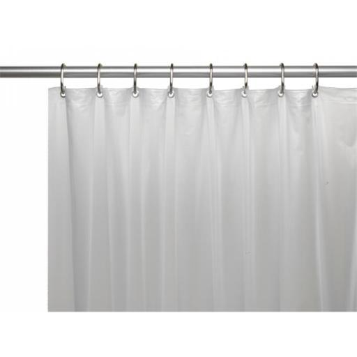 USC-10-ST-10 54 x 78 in. 10 Gauge Vinyl Shower Stall Curtain Liner with Metal Grommets & Reinforced Mesh Header, Frosty Clear