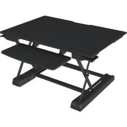 Amer networks amrct100 sit/stand table top desk riser