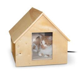 K&H Pet Products 9600 Wood K&H Pet Products Birdwood Manor Thermo-Kitty House Wood 18 X 16 X 15