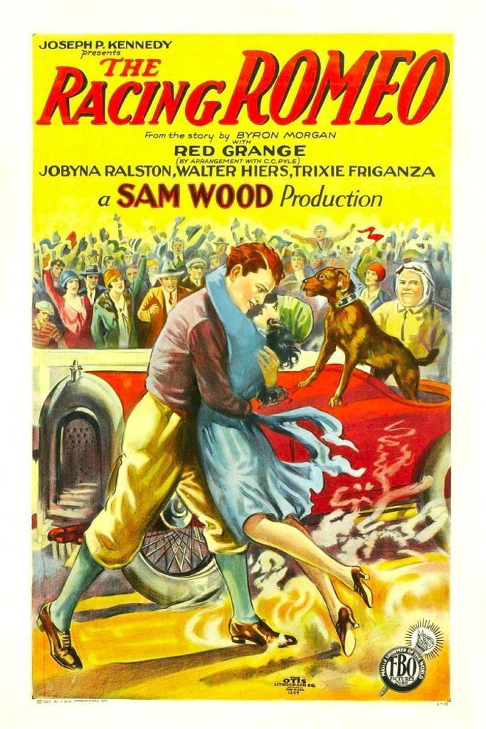 A Racing Romeo Center Couple From Left: Harold 'Red' Grange Jobyna Ralston 1927. Movie Poster Masterprint