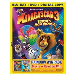 Madagascar 3-europes most wanted (br/dvd combo/e copy/wig/b2b)nla BR147654