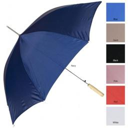 RainWorthy 48 inch Solid Color Automatic Umbrella - Red - 065-24RED