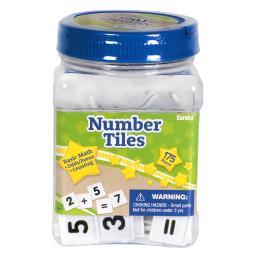 Eureka tub of number tiles manipulatives 867430