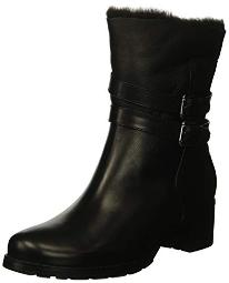 Blondo Women's Fabiana Fashion Boot, Black Leather, 8.5 M US