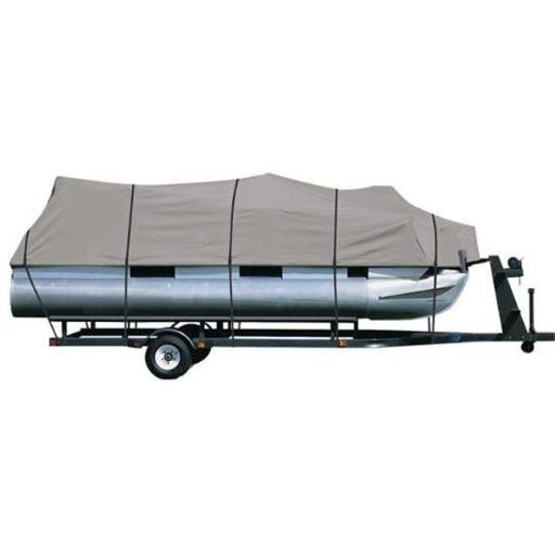 Pyle PCVHP660 Armor Shield Trailer Pontoon Cover - Universal Cover for Pontoon Boats - 17 in. - 20ft.