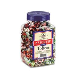 Office Snax 94054 Walker's Assorted Toffee  2.75lb Plastic Tub