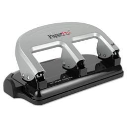 Accentra 2240 inPress Three-Hole Punch, 40-Sheet Capacity - Black & Silver