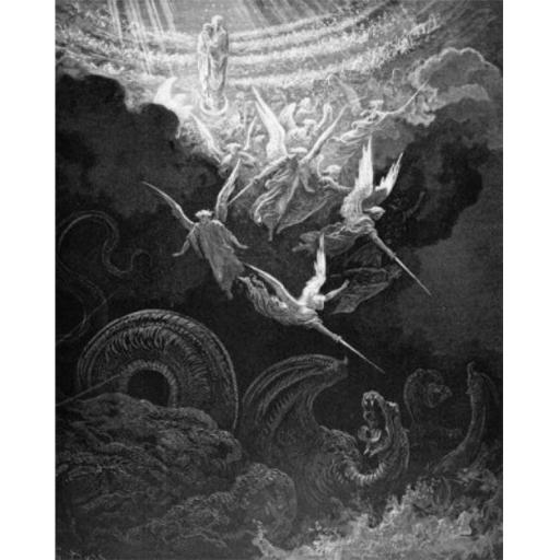 Posterazzi SAL995103151 A Woman Clothed with the Sun Gustave Dore 1832-1883 French Engraving Poster Print - 18 x 24 in.