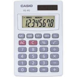 Casio solar calculator hs4gs