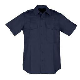 5.11 Tactical 5-61159750LR WomenS PDU Short Sleeve B-Class Twill Shirt, Midnight Navy - Large thumbnail