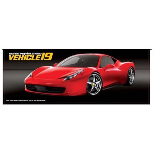 Microgear EC15098-Red Radio Control Full Function 1:10 Scale High Speed on-Road Car, Batteries & Charger - Red