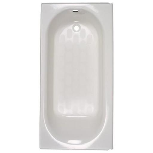 American Standard 2390202TC.020 Princeton Americast Bath Tub with Left Hand Outlet and Tub Cover - White