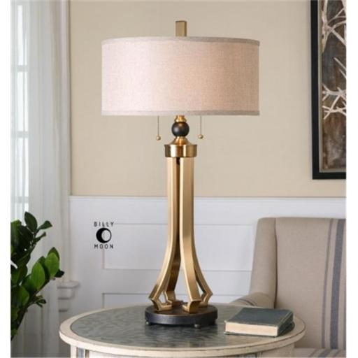 Uttermost 26631-1 Selvino Brushed Brass Table Lamp