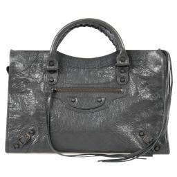 Balenciaga Classic City Bag | Fossil Gray with Rustic Brass Hardware | Medium