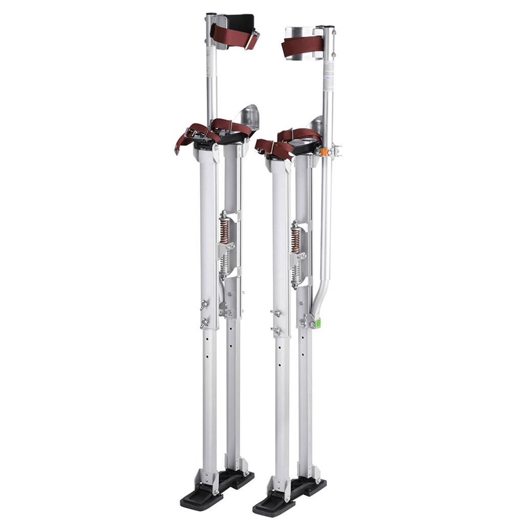 "36"" - 50"" Aluminum Drywall Stilts Height Adjustable Lifts Tool for Sheetrock Painting Painter Taping Finishing Silver"