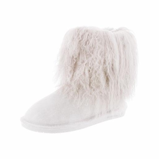 0b40e2f9f20 Bearpaw Boots Women Boo Comfortable Lamb Wool Shaggy Suede 1854W
