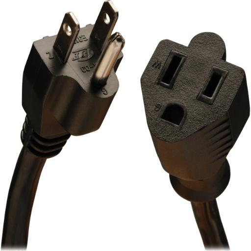 TRIPP LITE P024-010 10FT POWER CORD EXTENSION CABLE 5-15P TO 5-15R HEAVY DUTY 15A 14AWG