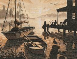 """Peaceful Silhouette Counted Cross Stitch Kit-13""""X10"""" 14 Count 35018"""
