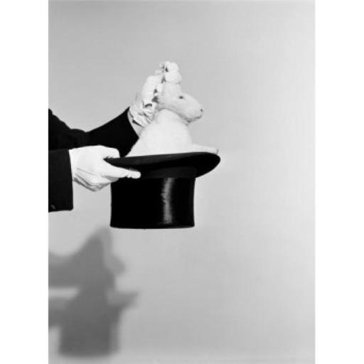 Posterazzi SAL255424870 Man Pulling Rabbit Out of Hat Poster Print - 18 x 24 in.