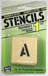 """Hy-ko St-1 Number & Letter Stencils, 1"""""""