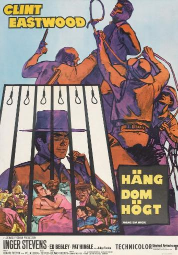 Hang 'Em High Lower Left: Clint Eastwood On Swedish Poster Art 1968. Movie Poster Masterprint