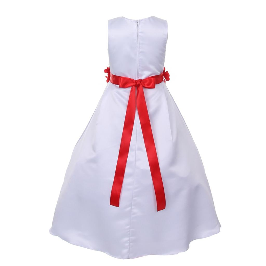 ff745073a Cinderella Couture Big Girls White Flower Choice Sash Full Bridal Junior  Bridesmaid Dress 8-16 | massgenie.com