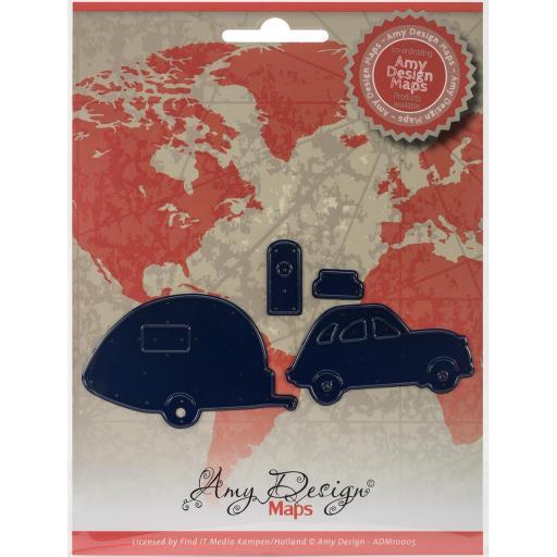 Find It Trading Amy Design Map Die Car W/Camper