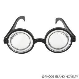 "Nerd Eye Glasses  5.5"" Magnifying Coke Bottle Nerdy Bubbles Gift TV Show Goggles"