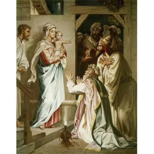 Posterazzi SAL9005013 Adoration of the Magi Heinrich Hoffmann 1824-1911 German Poster Print - 18 x 24 in.