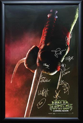 Teenage Mutant Ninja Turtles - Signed Movie Poster CLH9DGPOEU7O8LMP