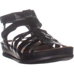 Bare Traps Womens Callia Leather Open Toe Casual Platform Sandals
