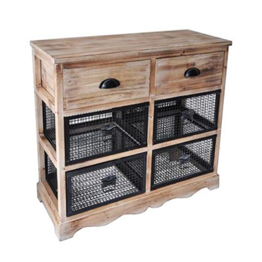 Cheungs FP-4306 3 Wire Drawer Wood Top Storage Cabinet - 32 x 11.75 x 15.25 in.