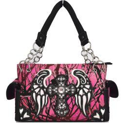 9cad31b171 Blancho Bedding Womens Celtic Cross And Wings PU Leather Handbag Fashion  Elegant Tote Bag WHITE
