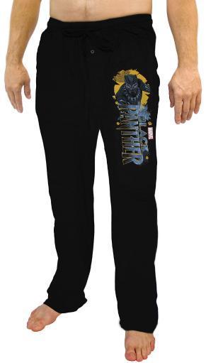 Marvel Black Panther Mens Character And Logo Lounge Pajama Pants