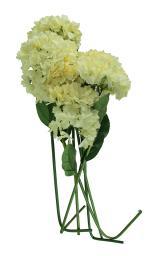 6 Piece Cream Hydrangea Artificial Flower Stem Set
