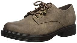 2 Lips Too Women's Too Riddle Oxford, Taupe, 11 M US