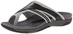 Propet Women's Corinne XT Slide Sandal, Black/Silver, 6 M US