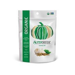 Superseedz 2099091 4 oz Garlic Dill Organic Pumpkin Seeds - Case of 6