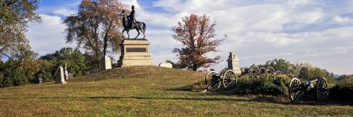 Major General Winfield Scott Hancock Equestrian Monument at Gettysburg National Military Park, Gettysburg, Pennsylvania, USA Poster Print