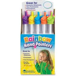 Learning Resources LRNLER1968 15 in. Rainbow Hand Pointers, Multi Color - 10 Piece