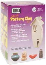 Moist Pottery Clay 5lb Gray
