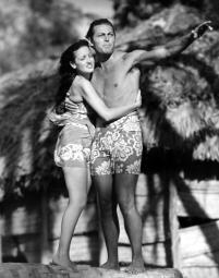 The Hurricane Dorothy Lamour Jon Hall 1937 Photo Print EVCMBDHURREC008H