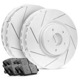 Full Kit Premier Slotted Brake Rotors & Ceramic Pads Commander,Grand Cherokee