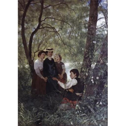 Posterazzi SAL9003555 Singing in the Garden Hans Thoma 1839-1924 German Poster Print - 18 x 24 in.