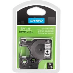 Dymo 16956 fabric white tape 19mm