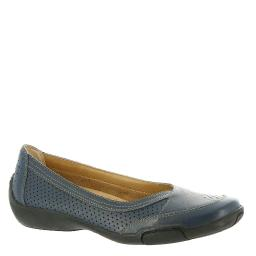 Auditions Womens Verona 2 Leather Closed Toe Ballet Flats