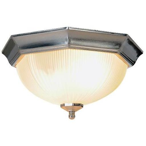 MONUMENT® DECORATIVE CEILING FIXTURE, BRUSHED NICKEL, 12, USES 2 60-WATT E26 BAS 7IWFFAISMOFZBUIL