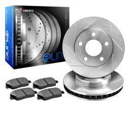 [REAR] eLine Slotted Brake Rotors & Semi-Met Brake Pads