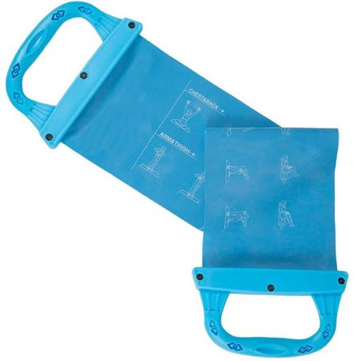 Wakeman M010010 26 x 6.5 in. Workout Resistance Band with Handles, Blue