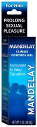 Mandelay Climax Control Gel 1 oz Maximum Strength Genital Desensitizer